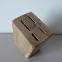 Késtartó blokk - Katana, Otthon & Lakás, Konyhafelszerelés, Kés & Késtartó, Famegmunkálás, Asztalos mester által diófából készített kezeletlen fa késtartó blokk. 4 különböző méretű konyhai k..., Meska