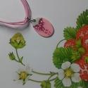 Ovális masni nyaklánc, Ékszer, Nyaklánc, Ovális rózsaszín masnis nyaklánc organza szalagon (átmérő: 3cm). Műköröm alapanyagból és..., Meska