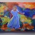 Virág a Mamának, Képzőművészet, Festmény, Akril, Festészet, 40x30 cm-es akril festmény, feszített váasznon  A képet ajánlom akár egy kislány szobájába, ahová é..., Meska