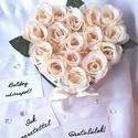 Black 'N' White rózsabox, Anyák napja, Otthon, lakberendezés, Szerelmeseknek, Asztaldísz, Virágkötés, Adjon szívből jövő ajándékot stílusosan! Fekete és fehér, mint a jin és jang kiegészítik egymást. 1..., Meska