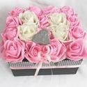 Csajos pink rózsabox 18 szál, Dekoráció, Otthon, lakberendezés, Anyák napja, Asztaldísz, Igazán csajos rózsadobozra vágysz? Vagy ajándékötletet keresel? Születésnapra, névnapra, vagy csak ú..., Meska