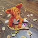 Fox horgolt róka koma , Dekoráció, Játék, Játékfigura, Horgolás, Ez a kis barát nagyon kedves ajándéka lehet gyermekének baratjának ismerosének .Azoknak ajánlom aki..., Meska