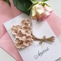 Horgolt dekorációs üdvözlő lap/horgolt virágos üdvözlő lap/egyedi ajándék , Otthon & lakás, Dekoráció, Kép, Horgolás, Papírművészet, Horgolt virágokból álló csokros üdvözlő lap. Egyedi jándék lehet születésnapra/anyáknapjara/üdvözle..., Meska