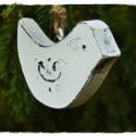 Fehér  fa madarak-2db.Sabinának, Esküvőre köszönőajándék és dekoráció. An...