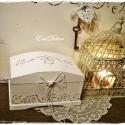 Keresztelőre vagy esküvőre  ajándék doboz , Ékszer, Dekoráció, Baba-mama-gyerek, Ékszertartó, Festett tárgyak,    Romantikus ajándék keresztelőre. Ajándék az első emlékek tárolására. Pl. első fogak, kis cipő, h..., Meska