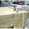 Pasztell esküvő, Vintage láda esküvőre, keresztelőre pasztell s...