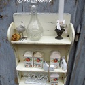 Vintage  fűszertartó polc AZONNAL ELVIHETŐ, Vintage  romantika a konyhában. Egy régi polc á...