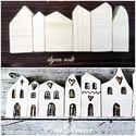 Vintage házak -utolsó darabok, Rusztikus, vintage faházak  8db Dekoráció és k...