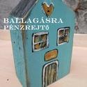 Vidéki pénzrejtő ház, Baba-mama-gyerek, Dekoráció, Ünnepi dekoráció, Húsvéti apróságok, Rusztikus faházak  ballagásra. Antikolt festéssel készül.   Titkos üzenet vagy papírpénz rejthető el..., Meska