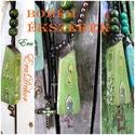 Zöld ház- NYAKLÁNC, Ékszer, óra, Nyaklánc, Medál, Zöld színekben készült fa  nyaklánc a BOHÉM stílus kedvelőinek. Romantikus  medál,  zsinórral, és  s..., Meska