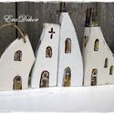 Karácsonyi templomok, Rusztikus, vintage faházak. Dekoráció és kará...