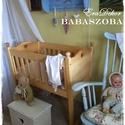Baba bölcső , Baba-mama-gyerek, Bútor, Gyerekszoba, Gyerekbútor, Hagyományos tervek alapján készült fa bölcső keresi kis tulajdonosát. Régi hagyomány, hogy a babákat..., Meska
