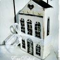Vintage pénzátadó házak, Esküvő, Dekoráció, Ünnepi dekoráció, Nászajándék, Házikó,  dekoráció. és ajándék,  pénz átadására. Esküvőre pénzátadó faház, alján kifúrt  lyukkal. Id..., Meska
