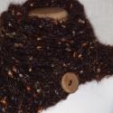 Csokoládé-arany nyakmelegítő, Különleges textúrájú, nemes fonalakat összef...