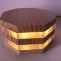 zLamp modern LED-es hangulatlámpa, Otthon, lakberendezés, Lámpa, Hangulatlámpa, Famegmunkálás, Melegfehér 1W-os LED-es lámpa, mely kellemes háttérvilágítás vagy különleges asztali dekoráció is l..., Meska