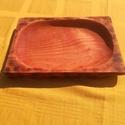 Rusztikus ovális tál, Konyhafelszerelés, Famegmunkálás, Patchwork, foltvarrás, Méretet: 26x 18 x 3 cm.  Égerfából készült. Étkezési olajjal kezelve.  A jobb sarkában egy alámart ..., Meska