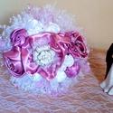 Rózsaszín menyasszonyi örökcsokor, Esküvő, Dekoráció, Esküvői csokor, Csokor, Virágkötés, Varrás, Gyönyörű menyasszonyi örökcsokor Átmérő: 24 cm magasság 24 cm. A terméket teljes mértékben sajátkez..., Meska