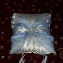 Gyűrűpárna harisnyakötővel, Esküvő, Gyűrűpárna, Gyűrűpárna harisnyakötővel., Meska