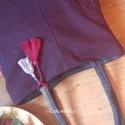 LILA FARMERTÁSKA , Táska, Divat & Szépség, NoWaste, Táska, Bevásárló zsákok, zacskók , Lila farmertáska színes díszítésekkel. Egy sosem hordott nadrág szárából készítettem újrahasznosítás..., Meska