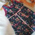 NINCS POSTAKOLTSEG - Virágosrét- kislány ruha, Gyerek & játék, Táska, Divat & Szépség, Ruha, divat, Gyerekruha,    Gyönyörű, színes tavaszi-nyári ruhácskát készítettem kicsiknek, minőségű farmerhatású, virágmintá..., Meska
