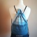 Kék farmer hátizsák-backpack, Újrahasznosítás jegyében készítettem a legú...