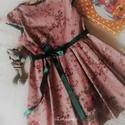 NINCS POSTAKOLTSEG - Rózsakert - kislányruha, Gyerek & játék, Táska, Divat & Szépség, Gyerekruha, Ruha, divat, Nyomott virágmintás, mikrokordból készítettem a legújabb tavaszi-nyári ruhát kislányok részére.   A ..., Meska
