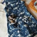 NINCS POSTAKOLTSEG - Virágosrét- kislány ruha II., Gyerek & játék, Táska, Divat & Szépség, Ruha, divat, Gyerekruha, Gyönyörű, színes tavaszi-nyári ruhácskát készítettem kicsiknek, farmerhatású, virágmintás vászonból...., Meska