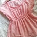 NINCS POSTAKOLTSEG - Blúz kislányoknak- rózsaszín álom, Pillekönnyű anyagból, rózsaszín gézanyagból...