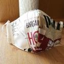 Arcmaszk, női maszk, textilmaszk, szájmaszk , Színes,  designer textilből készítettem ezt a ...