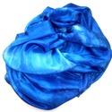 """""""Kék hullám"""" hernyóselyem sál, Ruha, divat, cipő, Kendő, sál, sapka, kesztyű, Sál, 45 x 180 cm méretű hernyóselyem sál a kék különböző árnyalataival.  Kellemes viselet, lág..., Meska"""