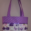Lavender Lover táska, Táska, Válltáska, oldaltáska, Varrás, Levendula mániások figyelem! Lavender Lover névre hallgat ez az egyedi táska, mely megerősített vás..., Meska
