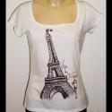 Eiffel torony póló (XL-es, fehér)