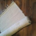 """natur színű, puha, vastag szőnyeg, Otthon, lakberendezés, Lakástextil, Falvédő, Szőnyeg, Szövés, Nagyon jó tapintású, puha, vastag """"szőrös"""" szőnyeg. Hagyományosan kézi szövőszéken készült pamut al..., Meska"""