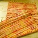 Tarka szőnyeg, Otthon, lakberendezés, Lakástextil, Falvédő, Szőnyeg, Szövés, jó kis vidám színű szőnyeg: piros, sárga, narancs, szürke, fehér..... Hagyományosan kézi szövőszéke..., Meska
