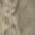 Pamut vászon asztalterítő, Magyar motívumokkal, Otthon, lakberendezés, Lakástextil, Terítő, Varrás, Szövés, Natur színű pamut vászonból készült asztalterítő. Natur alapon négy sávban, hosszában fehér színű h..., Meska