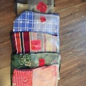 Környezetbarát textil-hálós zsák, Otthon & lakás, NoWaste, Bevásárló zsákok, zacskók , Textilek, Varrás, Megrendelésre készült, piros kockás, kék kockás zsákocskák. Környezetbarát-újrafelhasznált-öko vona..., Meska