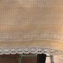 Narancs pamut ágytakaró, Nagyon szép darázsfészek mintával szőtt, tisz...