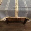 Darázs asztalterítő, Darázsfészek mintával szőtt, tiszta pamut alap...