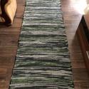 szürke-zöld csíkos , Megrendelésre készült az a két szőnyeg. Hagyo...