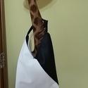 Fekete-fehér Hobo táska, Táska, Válltáska, oldaltáska, , Meska