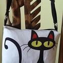 Macskás táska, Táska, Válltáska, oldaltáska, , Meska