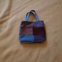 Kicsi patchwork táska, Táska, Szatyor, Patchwork, foltvarrás, Varrás, Eladó a képen látható patchwork technikával készített kicsi táska.  Méretei: 26 cm x 24 cm x 7 cm. ..., Meska