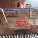 Farmer neszesszer, Táska, Neszesszer, Farmer neszesszer Méret: 22×12cm Díszítés: farmer bőr címkék  Anyag: farmer+ 100% pamut anya..., Meska