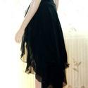 Alkalmi ruha!, Ruha, divat, cipő, Női ruha, Estélyi ruha, Varrás, Fekete muszlin alkalmi ruha! Szűk mini ruha és a szoknya rétegű levehető!  Nagyon elegáns darab! Mé..., Meska