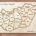 Magyarország megyéi - kirakó fából, Játék, Fajáték, Készségfejlesztő játék, Famegmunkálás, Ezzel a játékkal mindenki könnyen megtanulja Magyarország megyéinek elhelyezkedését, nevét. Fából k..., Meska