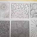 Nyomtatható mintás színező - lapok, Képzőművészet, Grafika, Rajz, Fotó, grafika, rajz, illusztráció, Kézzel rajzolt színező lapok. Vektorizáltak.  A 6 db rajzot elektronikus úton, PDF formátumban küld..., Meska
