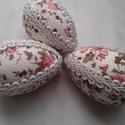 Húsvéti tojás, Dekoráció, Húsvéti apróságok, Ünnepi dekoráció, Patchwork, foltvarrás, Húsvéti tojás (7 cm magas) hungarocellből asztaldísznek, tojásfára vagy a kedves locsolónak.  Patch..., Meska