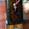 Asztali/Fali SteamPunk Óra 2, Otthon, lakberendezés, Ékszer, Falióra, óra, Karóra, óra, Kb. 60 éves bontott fa gerendából némi vasból jó szivvel készített időmérő szerkezet...as..., Meska