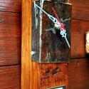 Asztali/Fali SteamPunk Óra 1, Otthon, lakberendezés, Ékszer, óra, Falióra, Karóra, óra, Famegmunkálás, Fémmegmunkálás, Kb. 60 éves bontott fa gerendából némi vasból jó szivvel készített időmérő szerkezet...asztalon is ..., Meska