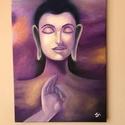 Buddha olajfestmény, Művészet, Festmény, Olajfestmény, Festészet, Általam készített olajfestmény keret nélkül. Mérete: 30x40, Meska